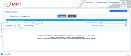 print screen do Pergamum - consulta