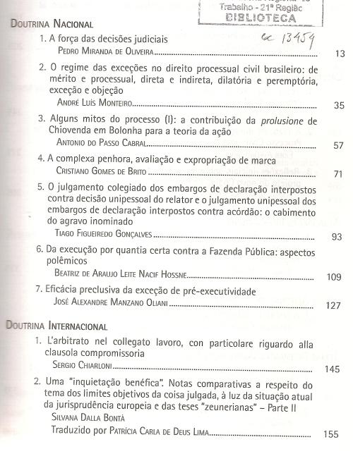Revista de processo 2160001