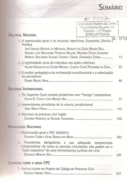 Revista de Processo 2200002