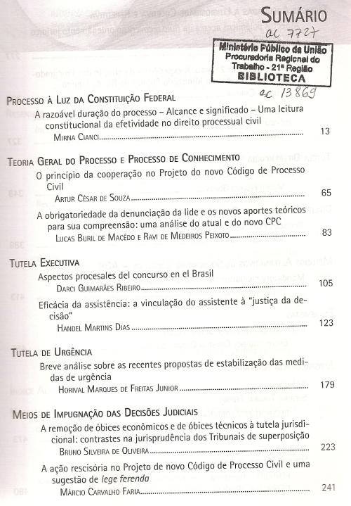 Revista de Processo 2250002