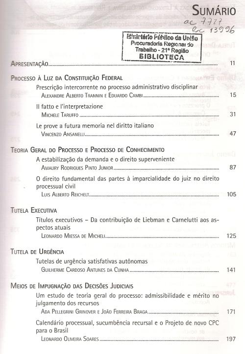 Revista de Processo 2270002
