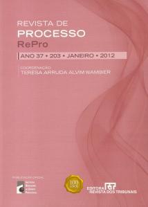 Revista de Processo nº 203 - jan.2012 - capa