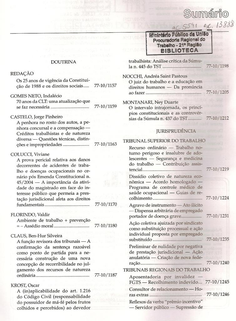 Revista LTr 10.20130002