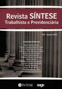 Revista síntese trabalhista e Previdenciária 3070001