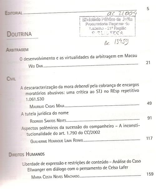 Revista dos Tribunais 9310002
