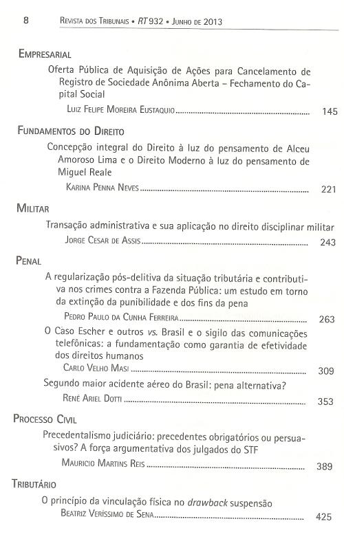 Revista dos Tribunais 9320003