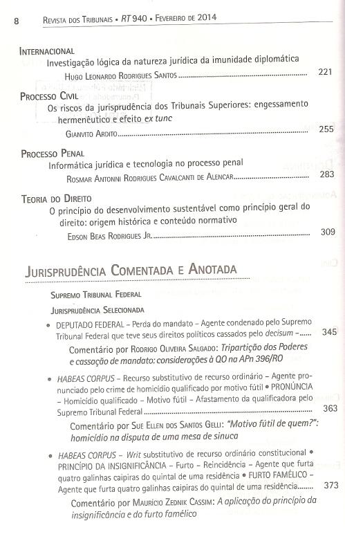 Revista dos Tribunais 9400003