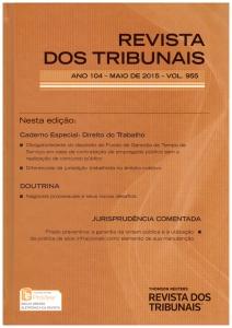 Revista dos Tribunais 955