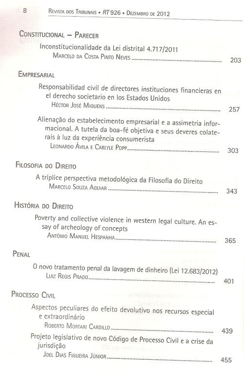 Revista dos Tribunais nº 9260002