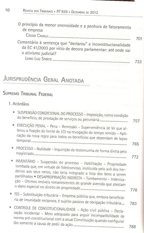 Revista dos Tribunais nº 9260004