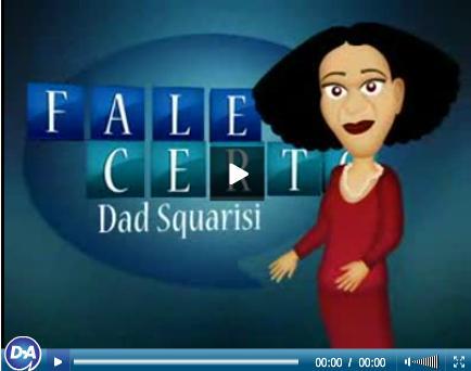 fale certo - dad Squarisi