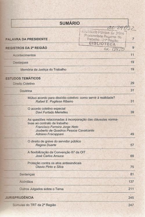 Revista do TRT 2ª região nº 120002