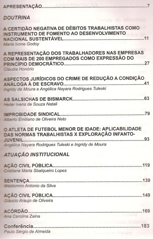 Revista do MPT do Paraná nº 30003