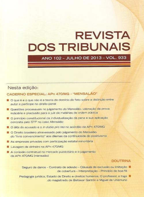 Revista dos Tribunais 933 - capa0001