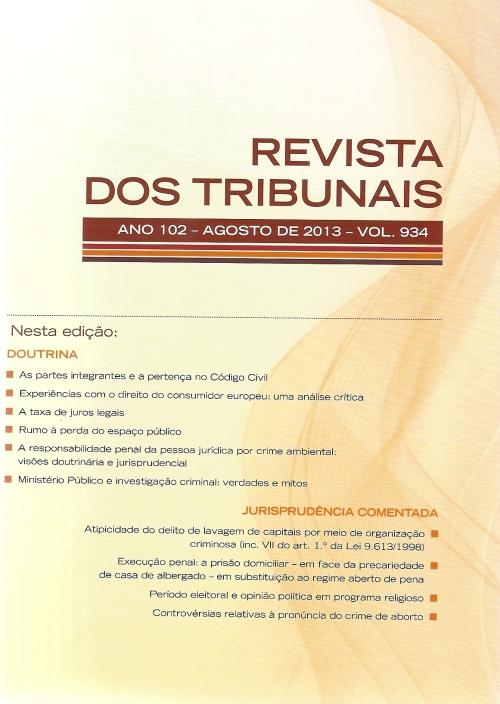 Revista dos Tribunais 934 capa0001
