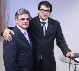 O procurador-chefe do MPT-RN Marcelo Almeida com o procurador-geral do Trabalho Luís Camargo
