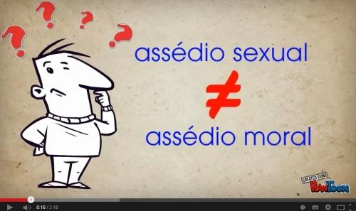 assédio moral X assédio sexual