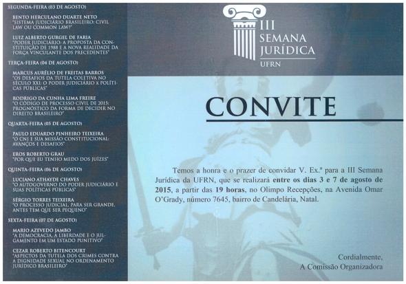 Covite III semana Jurídica